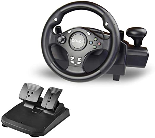 YWT Juego Volante Dual Motor Deportes Rueda de Carreras 270 Grados ...