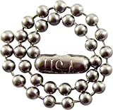 """25 - 4.5"""" Inch - 2.4mm Stainless Steel Ball Chain Key Chains - Dog Tag Chains - Tag Keychains"""