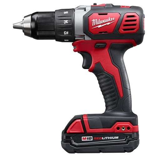 - Milwaukee M18 18V Lithium-Ion 1/2 Inch Cordless Drill Driver Compact Kit 2606-21CT
