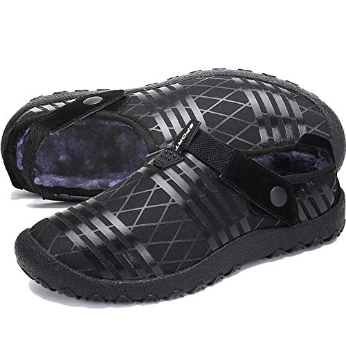 Lxso Mens Womens House Slippers Non Slip Outdoor Indoor Slippers Warm Winter Snow Slippers ()
