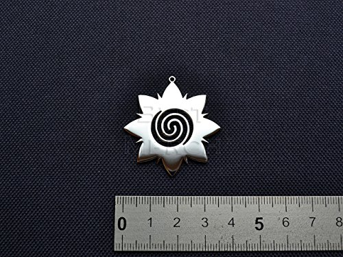 Borneo Rose Necklace Stainless Steel Tattoo Jewelry Tribal Pendant Flower Keychain Spiral merch logo Bunga Teruong symbol Bunga Terung emblem amulet talisman