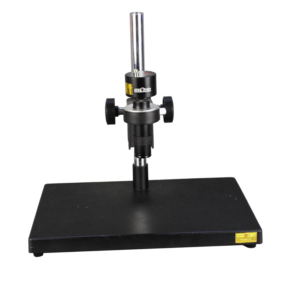 New 1000TV Lines 80 Million Pixels HD Digital Industry Microscope Camera AV Video Output & 100X C-Mount Lens & Table Stand & LED Spotlight for Industrial Component Repair Electronics Manufacturing by Unknown