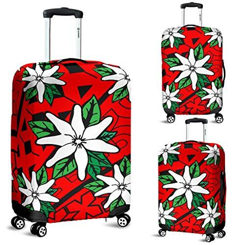 Tiare Maori Inspired Luggage Cover | Vixen Red