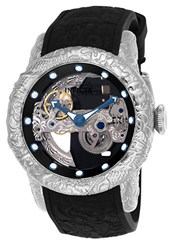 Invicta Men's 50mm Empire Dragon Ghost Automatic Skeletonized Dial Silicone Strap Watch (Bridge Watch Automatic)