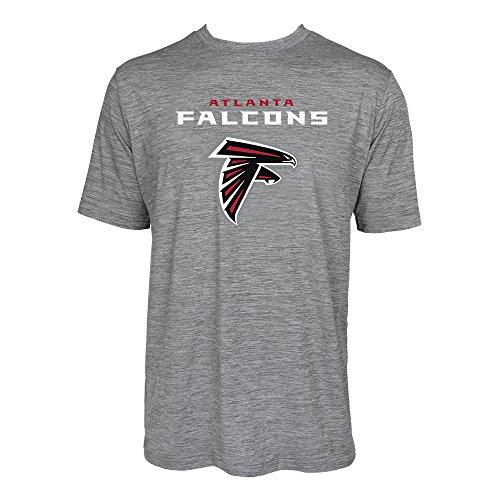 NFL Atlanta Falcons Men's Tonal Gray Wordmark Logo Tee, Gray, Small