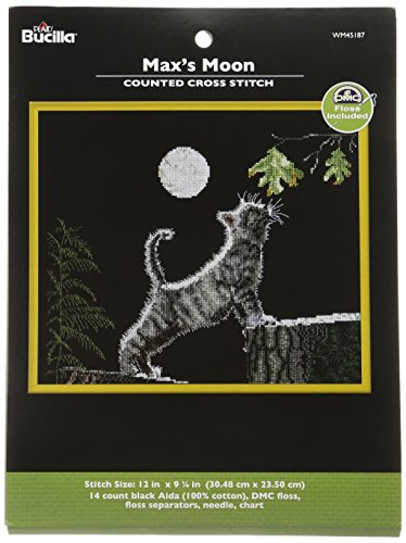 Bucilla Counted Cross Stitch Kit, 12 by 9.25-Inch, 45187 Max's Moon (Designs Cross Counted Moon Stitch)