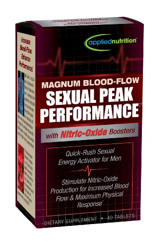 Applied Nutrition Magnum Blood Flow Sexual Peak Performance Capsules, 40 Count