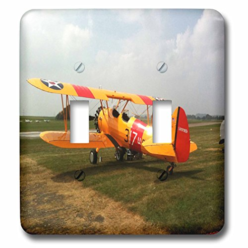 3dRose lsp_62316_2 The Stearman A Pre Wwii Trainer Aircraft Double Toggle Switch by 3dRose