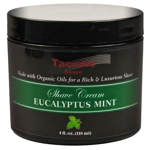 Taconic Shave EUCALYPTUS & MINT Shaving Cream, Creates a Rich and Luxurious Lather - 4 (Mint Shaving Cream)