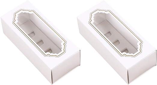 10 Piezas Macarons Caja, Rectangular Macaroon Cajas de Embalaje con Ventana Transparente, 5 Macaron Container para Galletas Pasteles Donas Dulces y al Horno, 6.1×2.5× 2 Pulgadas: Amazon.es: Hogar