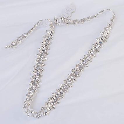 1 Yd Crystal Rhinestone Applique Trim Iron on Wedding Bridal Belt Sash Dress