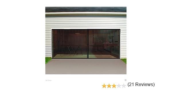 Puerta de garaje pantalla doble coche, puerta de garaje pantalla 16 ft. W x 7 ft. H cierre magnético base lastrada, pantallas de la puerta con imanes, pantalla de puertas de coche,