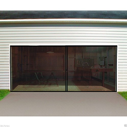Garage Door Screen Double Car Double Garage Door Screen 16 Ft. W X 7 Ft. H Magnetic Closure Weighted Bottom, Door Screens with Magnets, Car Door Screen, Garage Door Screen - Bug Style Car