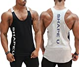 Lesimsam Men Muscle Fitness Tank Top Bodybuilding