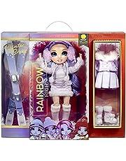 Rainbow High Winter Break Violet Willow - Paarse fashion pop met 2 outfits, sneeuw uitrusting & standaard - Inclusief Ski's, schaatsen, accessoires & meer - Cadeau & Verzamelbaar voor kids van 6+ jaar