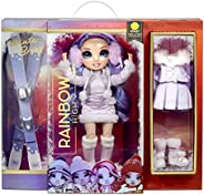 RAINBOW HIGH Winter Violet Willow – Purple Winter Break Fashion Doll and Playset with 2 Complete Doll Outfits,