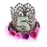 Dovewill Lovely Birthday Crown Headband Baby 1-6 Years Old Birthday Party Hat Hairband - #5