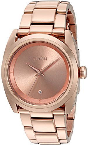 Nixon Women's 'Queenpin' Quartz Stainless Steel Automatic Watch, Color:Rose Gold-Toned (Model: A935897-00)