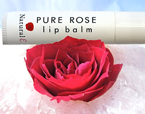 Rose Lip Balm-Natural Lip Tint-Organic Beeswax & Calendula Extract-Essential Oil-Beeswax and Vitamin E