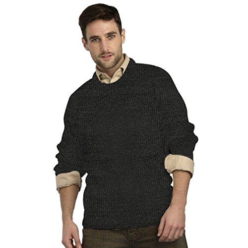 Irish Fishermans Pure Wool Rib Crew Neck Sweater(Small Ch...