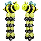 "Balloon Arch. Cute Flying Bees Arch Kit 2 Sets 80"" Height With 64Pcs Latex Balloon"