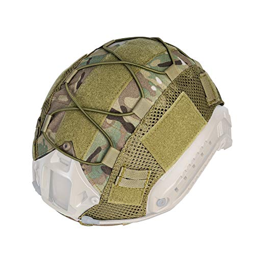 IDOGEAR Tactical Helmet Cover for Fast Helmet Multicam Helmet Cover for Airsoft Helmet in Size M/L, Military Paintball Hunting Shooting Gear - 500D Nylon - Without Helmet