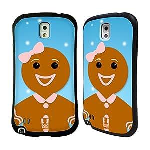 Head Case Designs Gingerbread Woman Jolly Christmas Characters Hybrid Gel Back Case for Samsung Galaxy Note 3 N9000 N9002 N9005