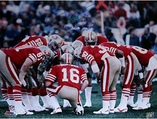 Joe Montana San Francisco 49ers Huddle Signed 16x20 Photo w/Three Inscriptions LE/16 - Steiner Sports Certified
