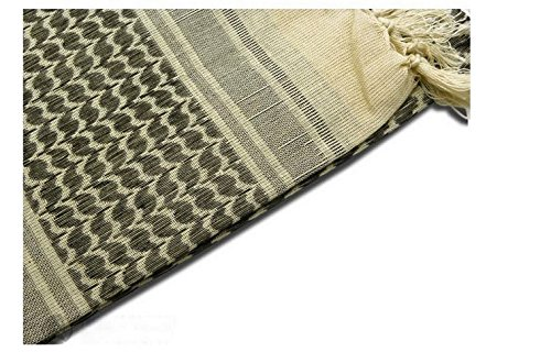 Shemagh Head Neck Scarf Tactical Military Arab Keffiyeh Desert Scarf Wrap 100% Cotton (Black&White) by AVSUPPLY (Image #1)