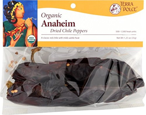 Terra Dolce Organic Anaheim Chiles, 1.25 Ounce (Pack of 6)