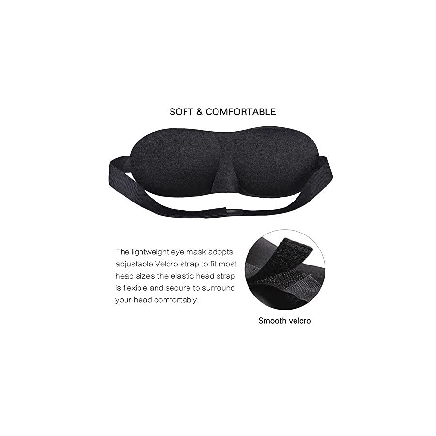 ZZTX Premium Set Of 4 Sleeping Masks By With Ear Plugs For Meditation, Shift Workers, Men & Women Great for Travel, Shift Work & Meditation These breathable masks are suitable for people of all ages