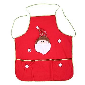 Ideas De Dibujos Para Navidad.Ouken Rojo Navidad Delantal Dibujos Animados Santa Patron