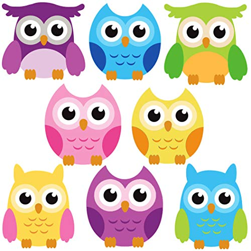DEKOSH Owl Wall Decals for Baby Nursery Décor | Colorful Large Jungle Theme Nursery Wall Sticker Owl Decorations for Kids Playroom, Classroom (Decor Colorful Kitchen Owl)