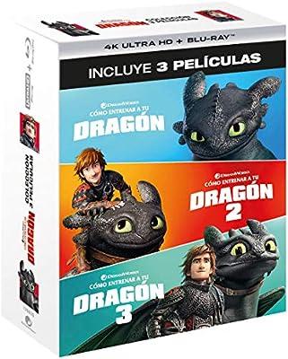 Pack 1 - 3: Cómo Entrenar A Tu Dragón 4K UHD + BD Blu-ray: Amazon ...