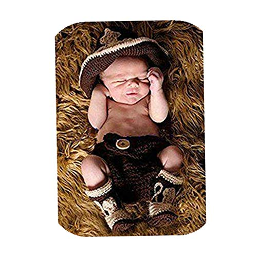 Vemonllas Fashion Newborn Baby Boy Girl Outfits Photography Props Cowboy Hat Shorts Boots