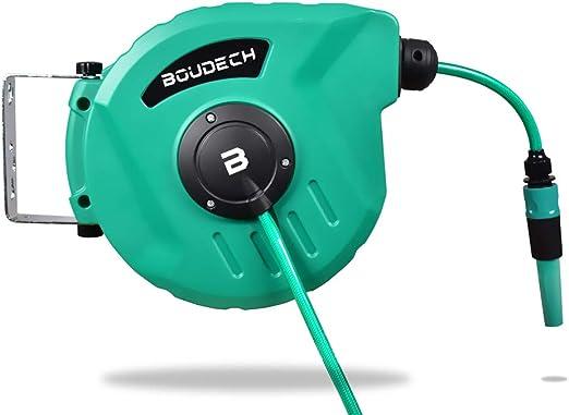 Enrollador de manguera automático para giratorio de jardín y enrollador con bomba de 10 Mt.: Amazon.es: Jardín