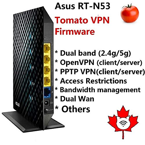 Asus RT-N53 Dual Band Wireelss N600 Router with Tomato VPN firmware preloaded