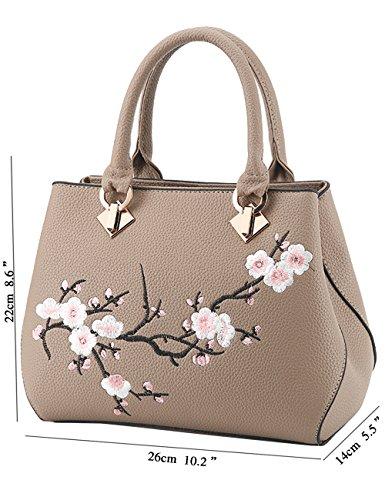 Menschwear Damen Handtasche Marken Handtaschen Elegant Taschen Shopper Reissverschluss Frauen Handtaschen Schwarz Khaki LmwGfQQgEv