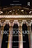 Routledge Dictionary of Economics, Donald Rutherford, 0415600383