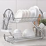 : Wtape Best Commercial Steel Rust Proof Kitchen In Sink Two Tier Dish Drying Rack, Dish Drainer