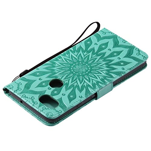 Silicone Bumper Xl Fiorire Flip Per Morbido Sottile Google Xl2 Xl2 Magnetico Borsa Pelle Portafoglio Cover Tpu 2 Cuoio Verde Custodia Protettivo Lemorry Pixel grigio 1TIwO1q