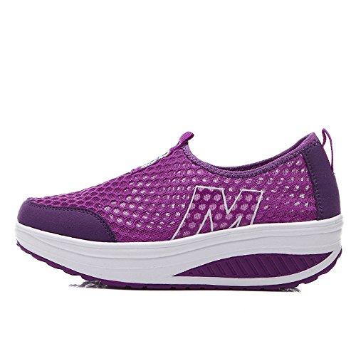 Zicoope Damen Athletic Casual Slip-On Toning Sneaker Wanderschuh Lila (m)