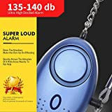 Personal Alarm, IEKA 130db Emergency Personal Security Siren, Self-Defense Safe Sound Key Chain Alarm with LED Light for Kids, Women, Elderly and Night Workers (Blue)