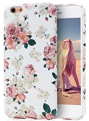 Vintage Flower Patterns (iPhone 6S Case, Imikoko™ Retro Vintage Floral Print Flower Pattern Hard High Impact Slim Protective Case For iPhone 6s/6 (Pattern A))