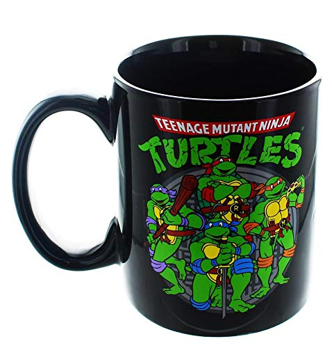 Teenage Mutant Ninja Turtles TMNT 20oz Dark Jumbo Size Ceramic Logo MUG by TNMT (Mug Ninja Coffee Turtle)