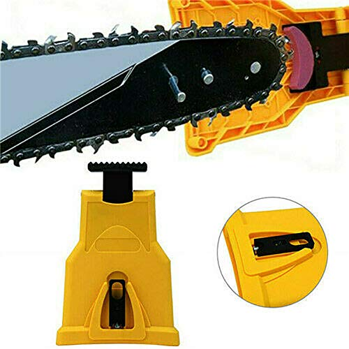 2019 Chainsaw Teeth Sharpener Abrasive Tools Chainsaw Blade Self Sharpener Kit with Sharpening Stone for 14/16/18/20-inch Chainsaw and Petrol Saw (yellow) (Best Small Chainsaw 2019)