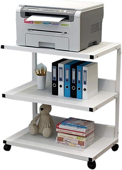 Desktop Stand for Printer Printer Shelf Multifunctional Multi-Layer Office Desktop Storage Simple Copier Document Storage Shelves Office Supplies Organizer Color : White