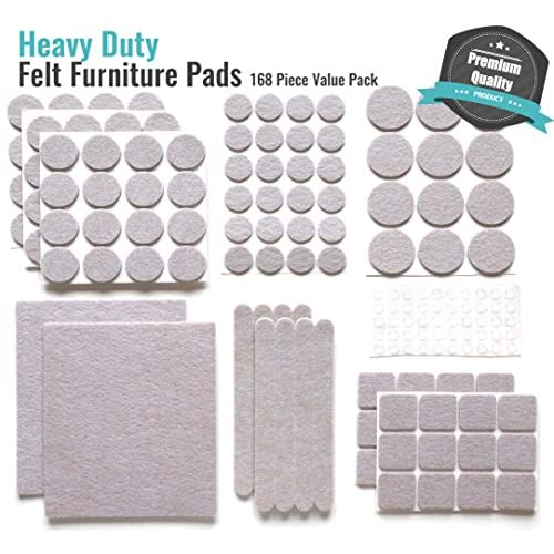 FURNITURE PROTECTION HEAVY DUTY SELF ADHESIVE FELT PADS 48 PER SHEET 20mm