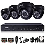 ZOSI 8CH CCTV DVR Motion Detection with 4pcs 800tvl Outdoor Indoor Security Cameras System With 1TB HDD