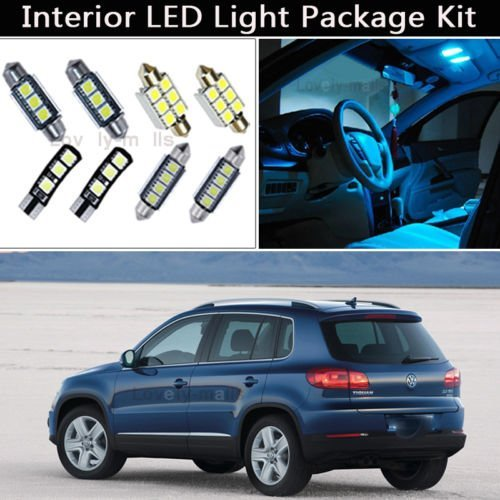(FidgetGear 12PCS Ice Blue Canbus LED Interior Lights Package kit For 2009-2012 VW Tiguan J1)